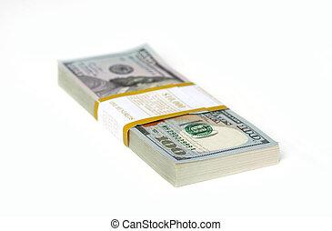 pack of hundred dollar bills