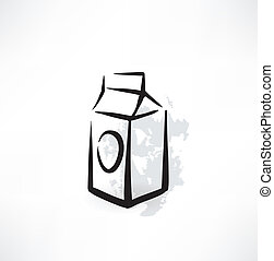 pack of juice or milk icon