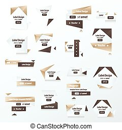 Pack of Label Collection Color retro design