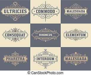 Pack of labels and banners