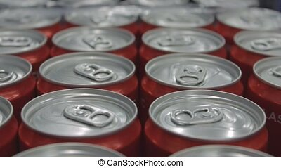 pack of soda cans close up.