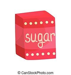 Pack of sugar vector Illustration