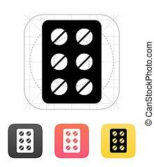 Pack pills icon. Vector illustration.