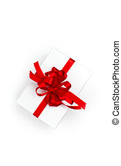 Pack With Red Bow On White Background