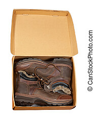 Pack with wintry men boots