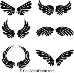 pack5, set, vleugels