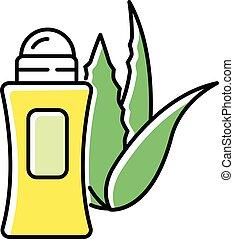 package., basé, icon., vert, cosmétique, antiperspirant., ...