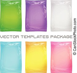 package blank template - vector set of 3d package blank...