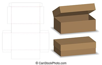 package box die cut with 3d mock up with auto lock - package...