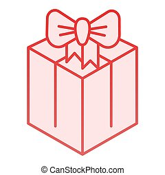 Package box flat icon. Gift pink icons in trendy flat style. Present box gradient style design, designed for web and app. Eps 10.