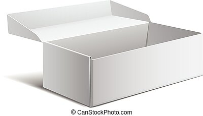 Package Box. For electronic device. - Realistic White ...
