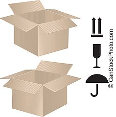 package box with sign