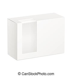 package cardboard box with transparent plastic window