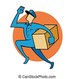 Package Delivery Service - Vector illustration of a package...