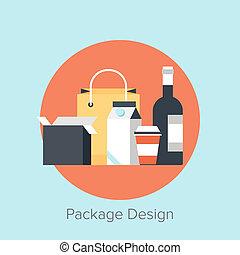 Package Design - Vector illustration of packaging flat ...