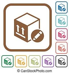 Package edit simple icons