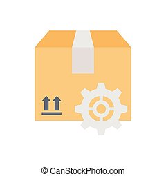 package  flat color icon