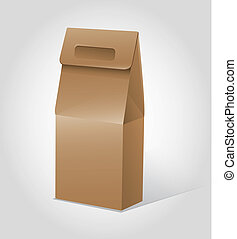 Package for food template vector