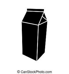 Package for milk black color icon .