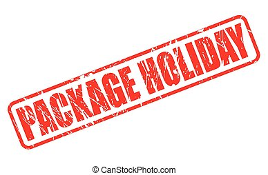 PACKAGE HOLIDAY red stamp text