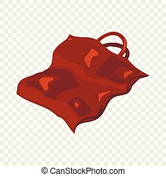 Package icon, cartoon style - Package icon. Cartoon...
