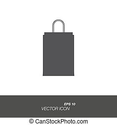 Package icon in flat style isolated on white background.
