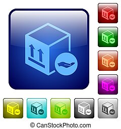 Package insurance color square buttons