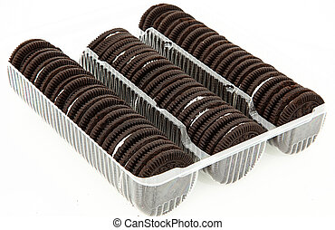 Package of Chocolate Cookies with Cream Filling