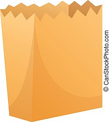 Package paper icon, cartoon style