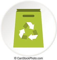 Package recycling icon circle