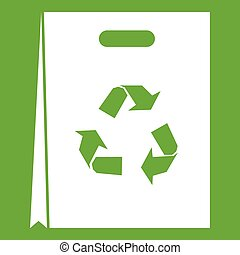 Package recycling icon green