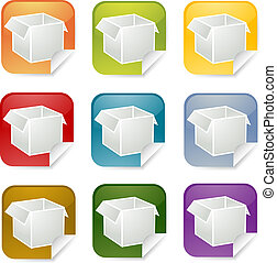 Package square sticker