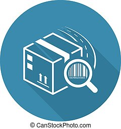 Package Tracking Icon. Flat Design. - Package Tracking Icon....