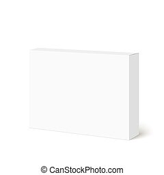 Package white box on a white background. vector