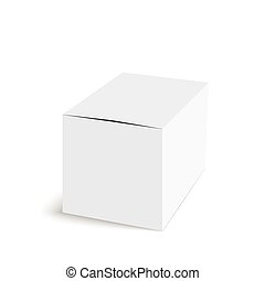 Package white box on a white background. vector. Realistic 3d blank for perfume, Software, electronic device, tea box and other products.