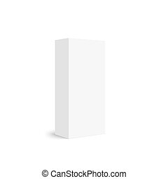 Package white box on a white background. vector. Realistic ...