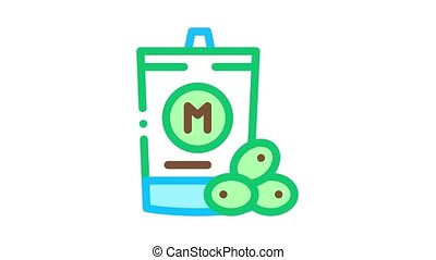 packaged mayonnaise Icon Animation. color packaged mayonnaise animated icon on white background