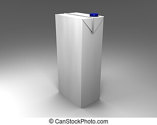 packaging - 3d illustration of an isolated with blue screw...