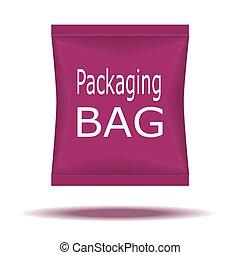 Packaging Box Design. Vector Illustration EPS 10