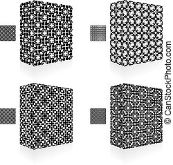 Packaging box. Seamless pattern.
