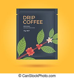 Packaging design for coffee - Packaging design for Drip...