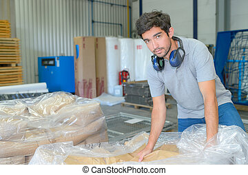 packaging factory worker