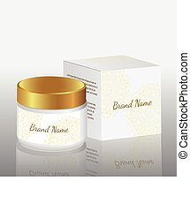 packaging for cosmetics, white box