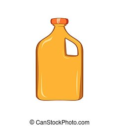 Packaging for engine oil icon, cartoon style