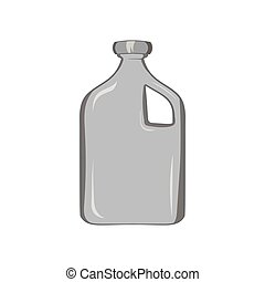 Packaging for engine oil icon, monochrome style