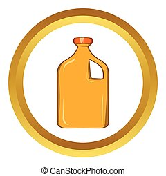 Packaging for engine oil vector icon