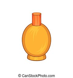 Packaging for perfume icon, cartoon style