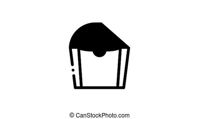 Packaging Elements Icon Animation Carton Open And Closed Packaging Concept Pictograms. Parcel, Box Container Delivery Shipping Equipment