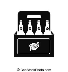 Packaging with beer icon