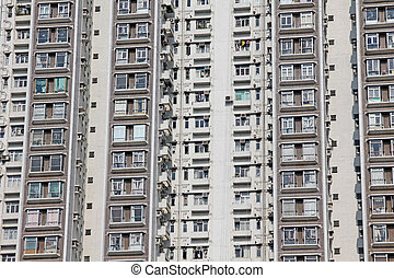 Packed Hong Kong housing apartments